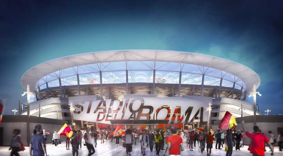 Novo estádio da Roma