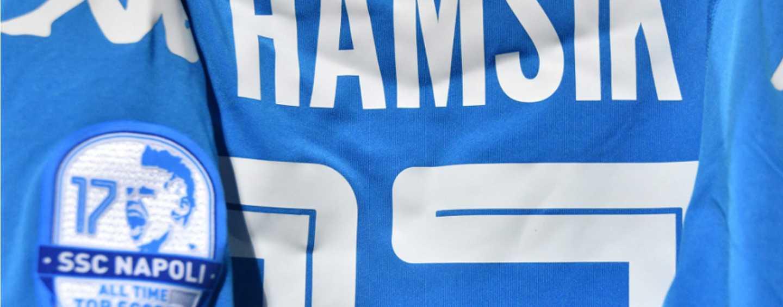 Nova camisa do Napoli para o Hamsik