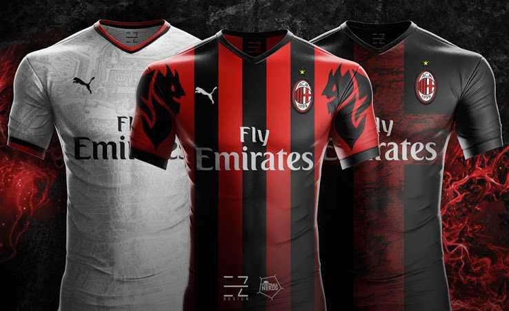 Camisa Milan e Puma