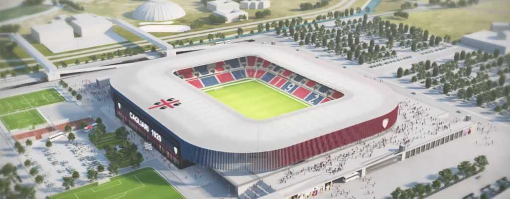 Novo estádio do Cagliari