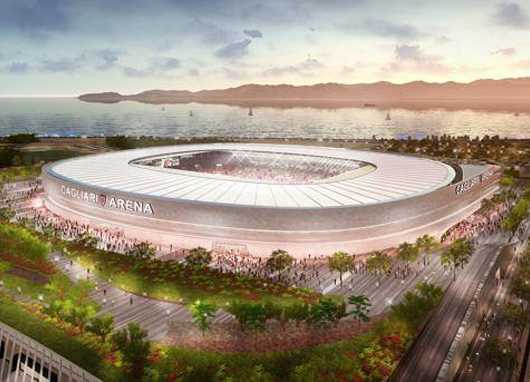 Novo estádio do Cagliari_