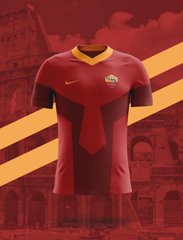 Camisa dos times italianos: Roma