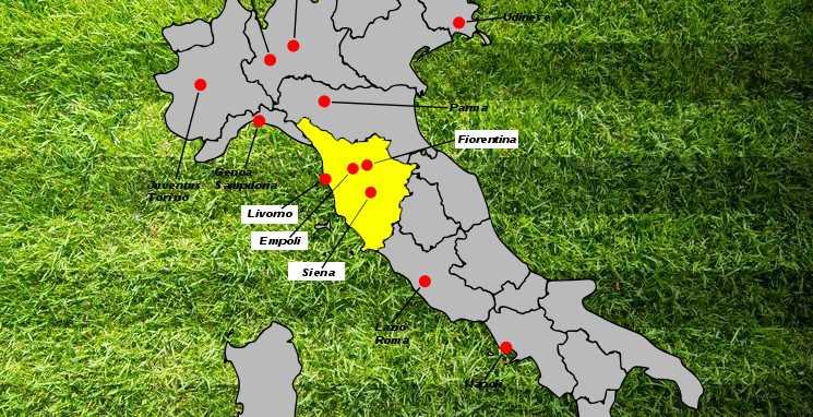 Rivalidade do futebol na Toscana - Derby Dell'Arno Fiorentina e Empoli