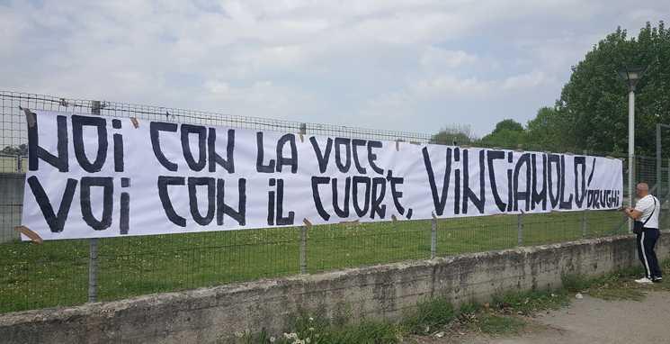 faixa no protesto dos torcedores da Juventus