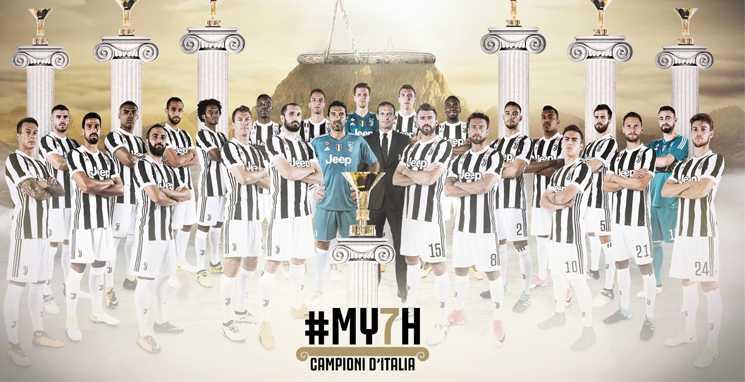 Juventus campeão título do campeonato italiano 2017-2018