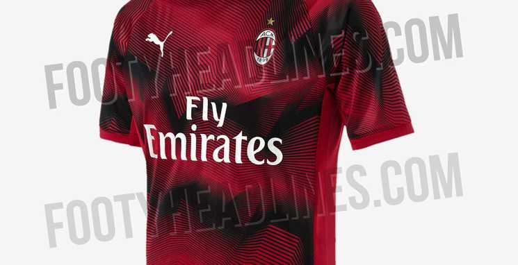 nova camisa do milan com a puma aquecimento