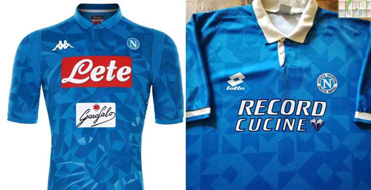Camisa do Napoli 2018-2019 e 95-96