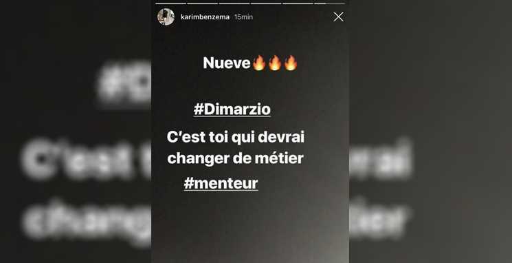 Instagram Benzema critica Di Marzio