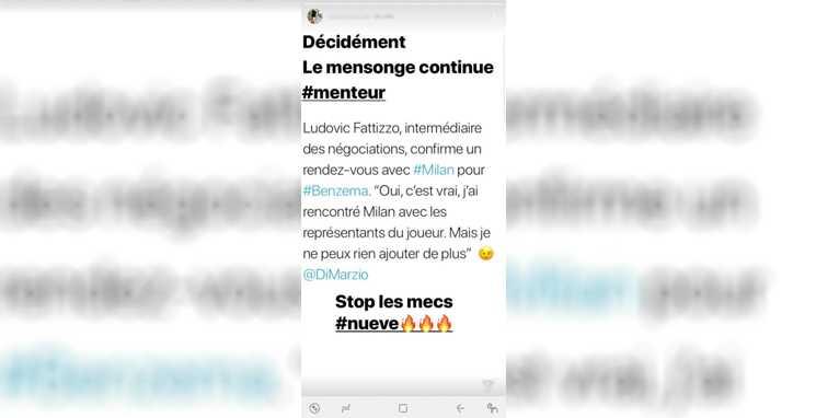 Instagram Benzema critica Di Marzio2