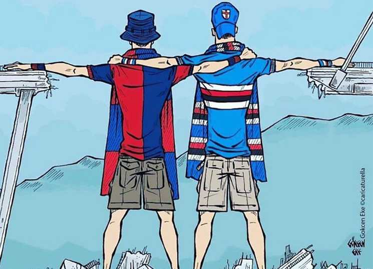 Genoa e Sampdoria Ponte Morandi