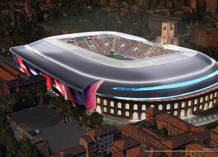 novo estádio do Bologna