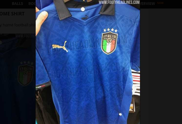 nova camisa da Itália para Euro_2020