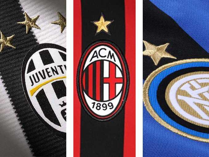 campeões do campeonato italiano - estrelas douradas escudos