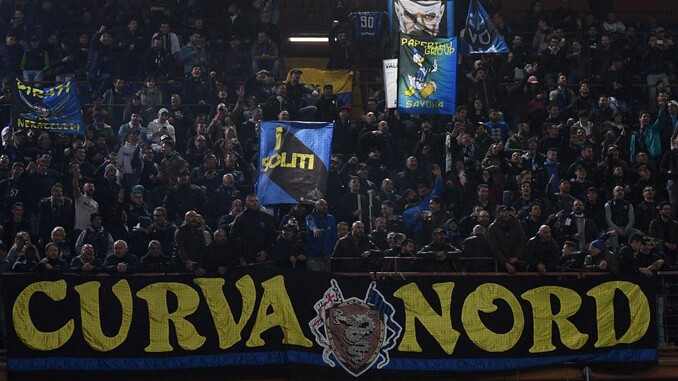 Curva Nord Inter - torcidas organizadas assinam contra volta do campeonato italiano