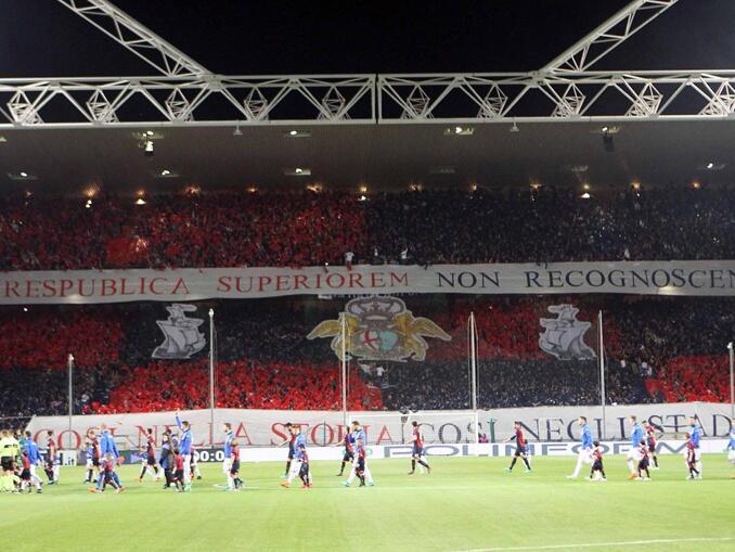 Derby Della Lanterna - Sampdoria e Genoa - mosaico torcida Genoa