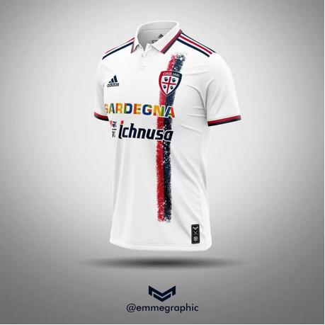 Camisa Cagliari Adidas Branca