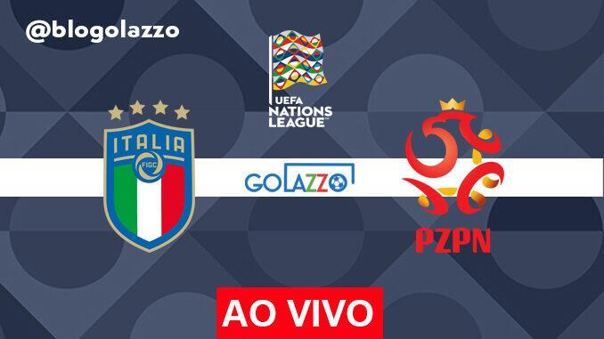 assistir italia x polonia ao vivo pela uefa nations league