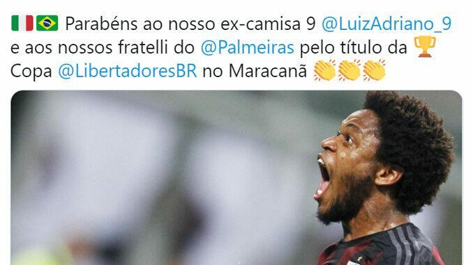 Palmeiras campeão da Libertadores - times italianos parabenizam