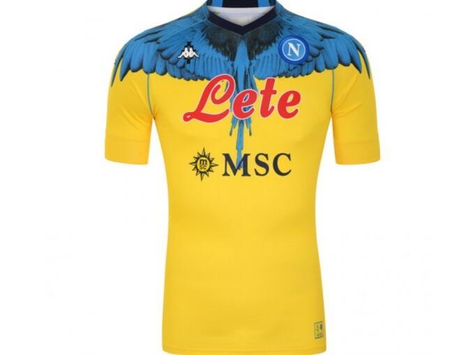 Nova camisa do Napoli amarela - Marcelo Burlon