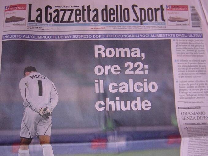 Derby Della Capitale - Roma e Lazio - derby suspenso 21 março 2004