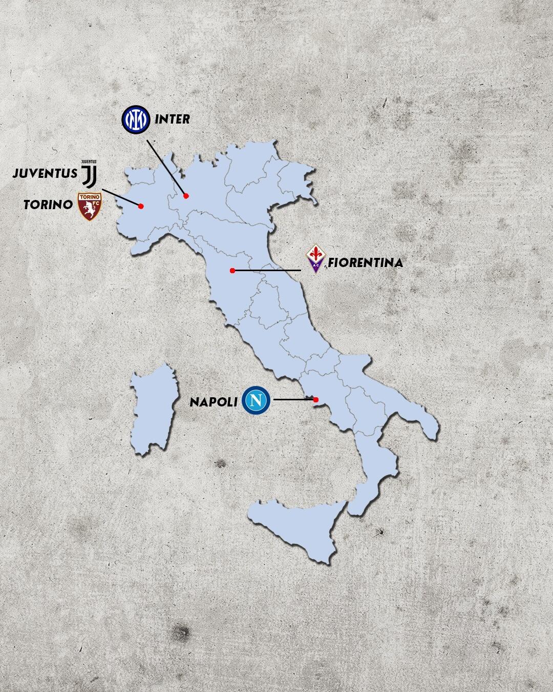 Rivalidades do campeonato italiano - rivais da Juventus