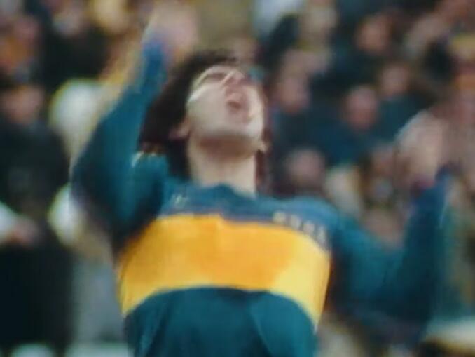 Maradona no Napoli - primeiro jogo pelo Boca Juniors